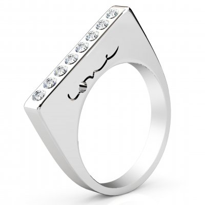 Evolve Love Ring - 2.4 Square 18k White .40ct