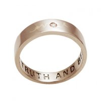 Love Peace Truth and Beauty, Personalised Rings