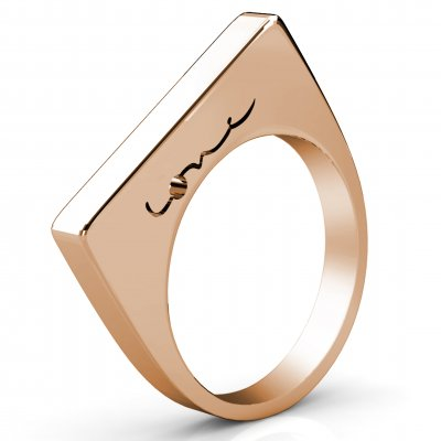 Evolve Love Ring - 2.4 Square, 18k Rose GoldF, Stackable Rings