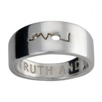 Personalised Ring, Love Peace Truth and Beauty