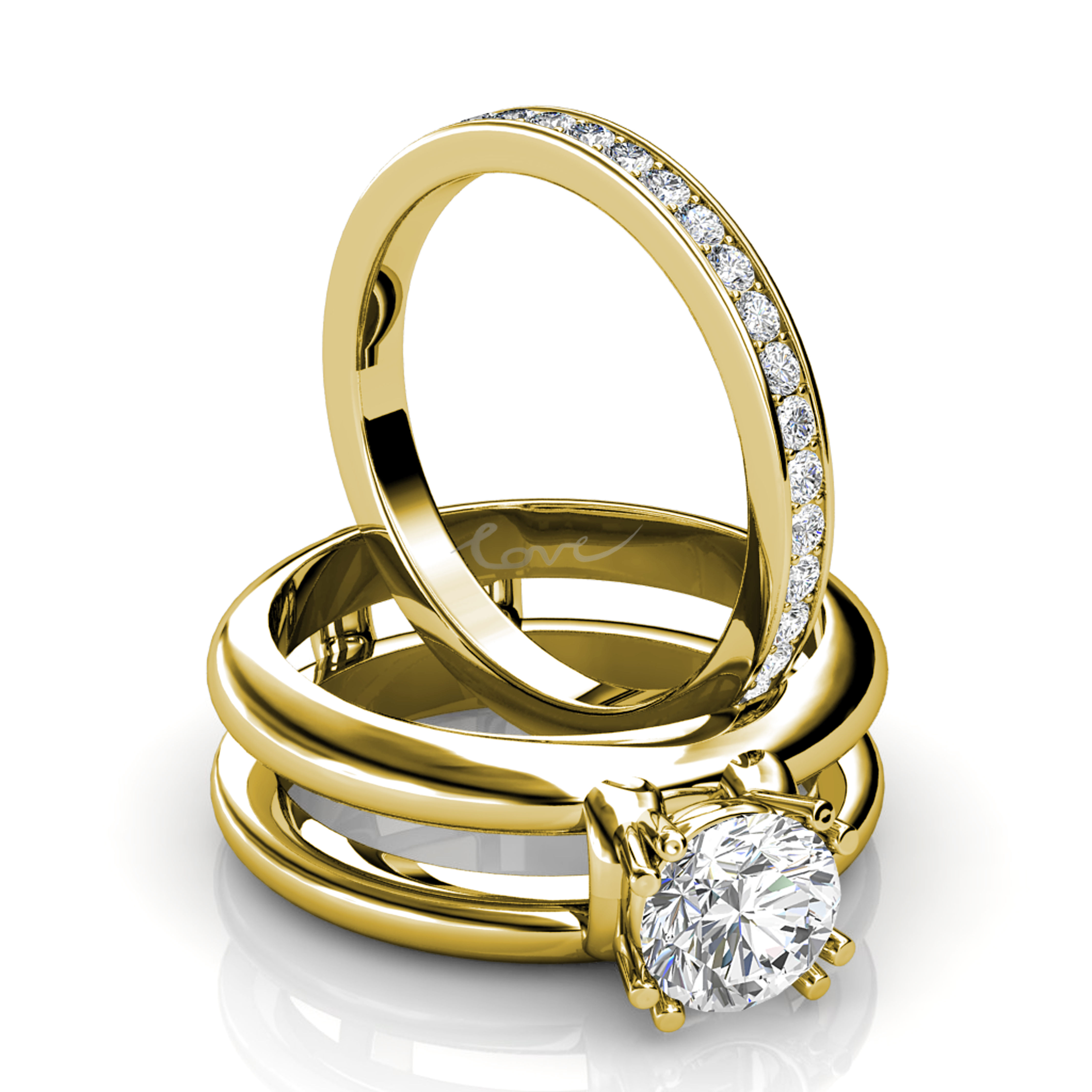 Engament Rings Set by Robert Young Jewellery